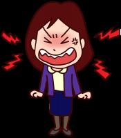 ヒステリックに怒鳴る女性
