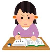 耳栓をしながら勉強する人