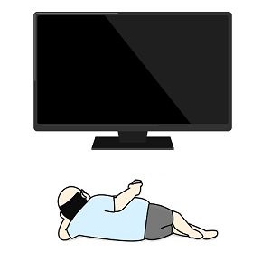 テレビと男